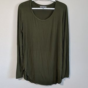 Long Sleeve Hunter Green Top